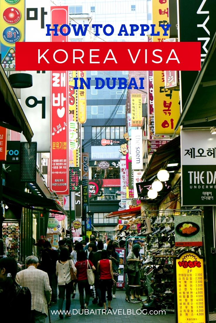 how to apply korea tourist visa dubai