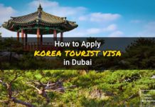 korea visa application dubai
