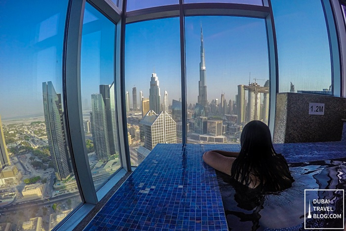 view of Dubai from Horizon Club Shangrila