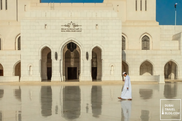 visitor in royal opera house muscat