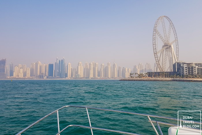 Ain Dubai Yacht cruising