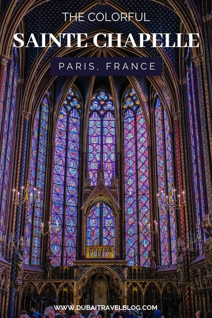 Visit to Sainte Chapelle in Paris France