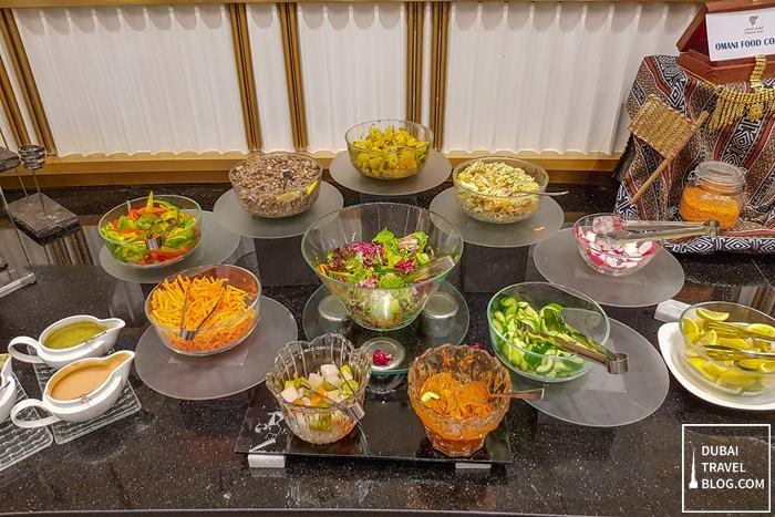 buffet oman air lounge