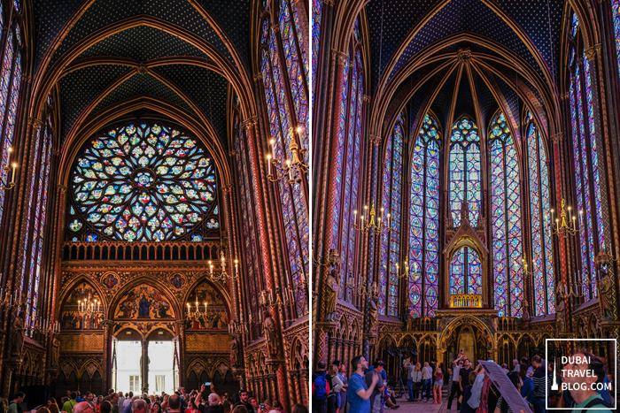 colorful sainte chapelle
