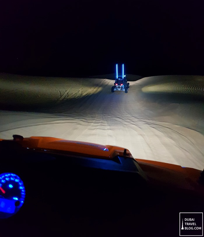 desert dune buggy night time
