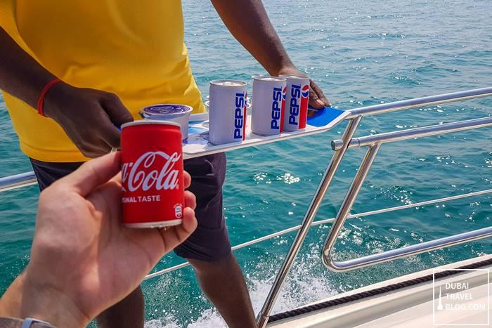 drinks on a yacht dubai