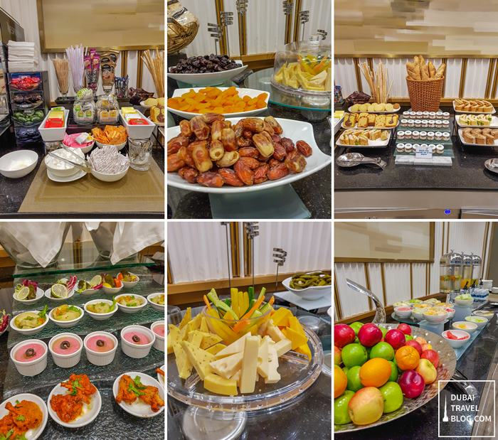 food at oman air business lounge