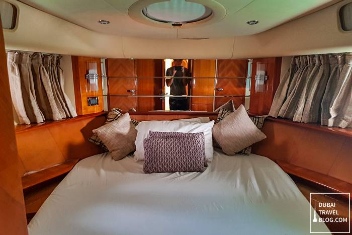 master bedroom yacht dubai
