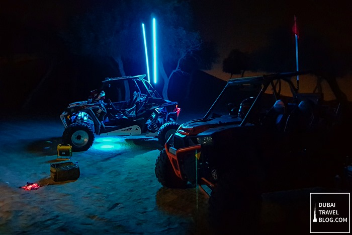 night dune desert buggy