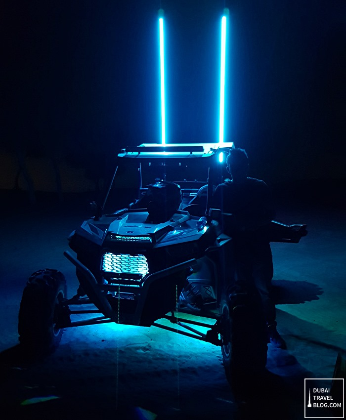 night raid tour dune buggy desert