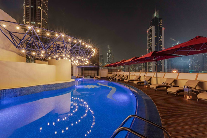 pool at leva hotel dubai