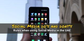 social media rules uae