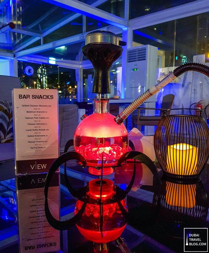 Best Places In Dubai For Shisha: Drinks & Shisha At The VIEW By Dusit Thani Dubai