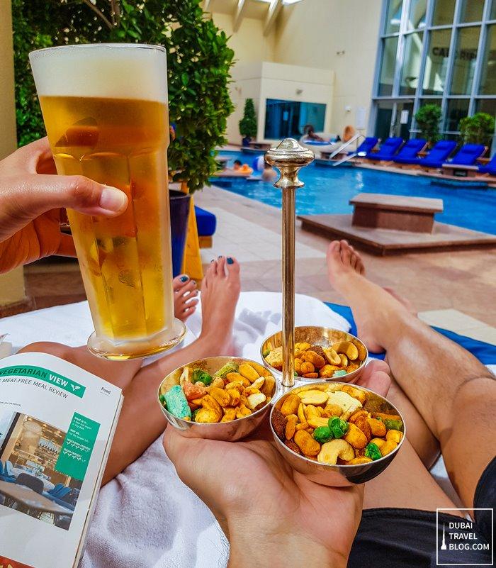 snacks drinks pool dusit dubai