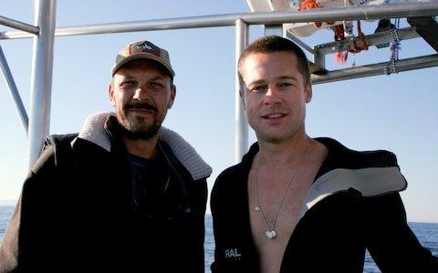 Mike Rutzen and Brad Pitt
