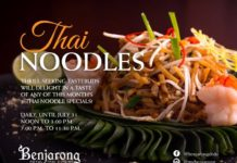 Thai Noodles Offer Dusit Thani Dubai