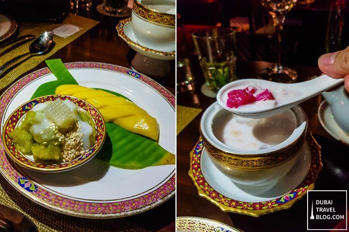 benjarong restaurant thai desserts