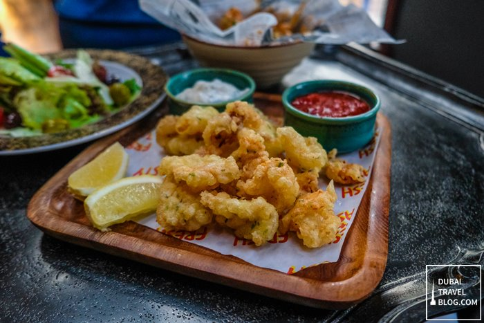 crispy calamari another bar dusit thani dubai