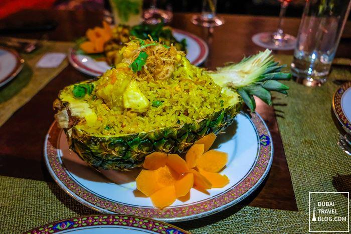 pineapple fried rice benjarong