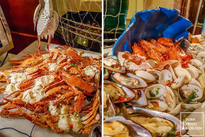 seafood menu pergolas