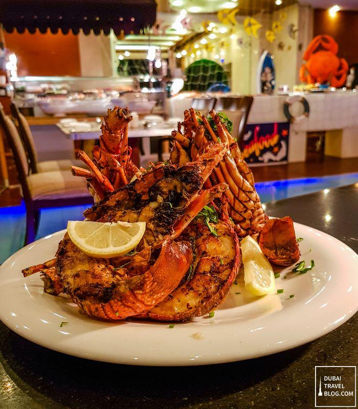 seafood nigh in pergolas dubai