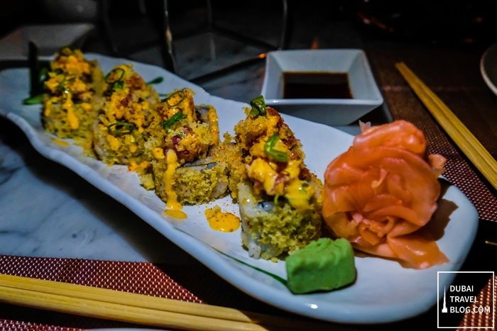 spicy tuna sushi teatro dubai