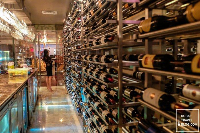 wine cellar in teatro dubai