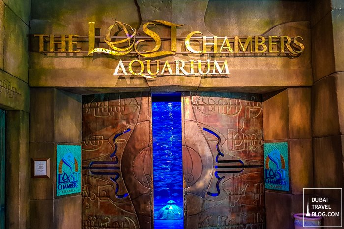 lost chambers aquarium entrance
