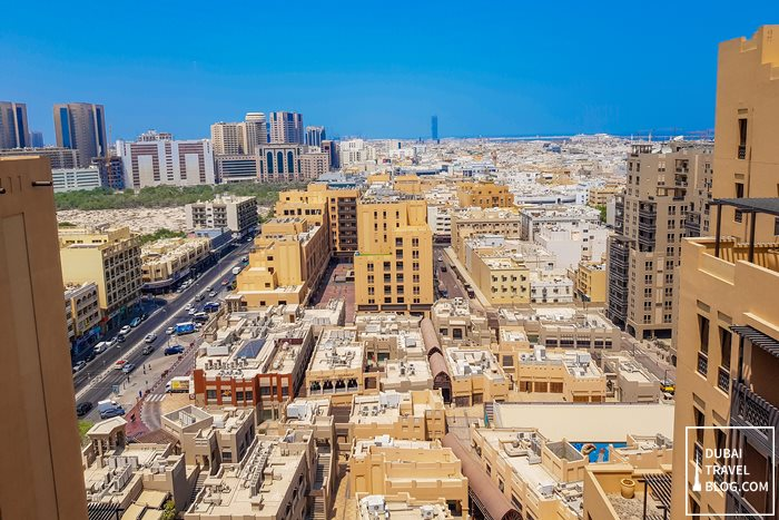 old dubai view from rooftop