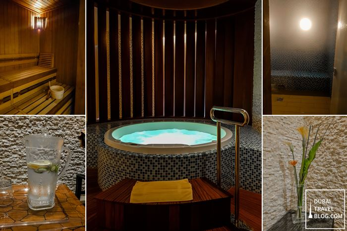 sauna and spa steam at dubai swissotel