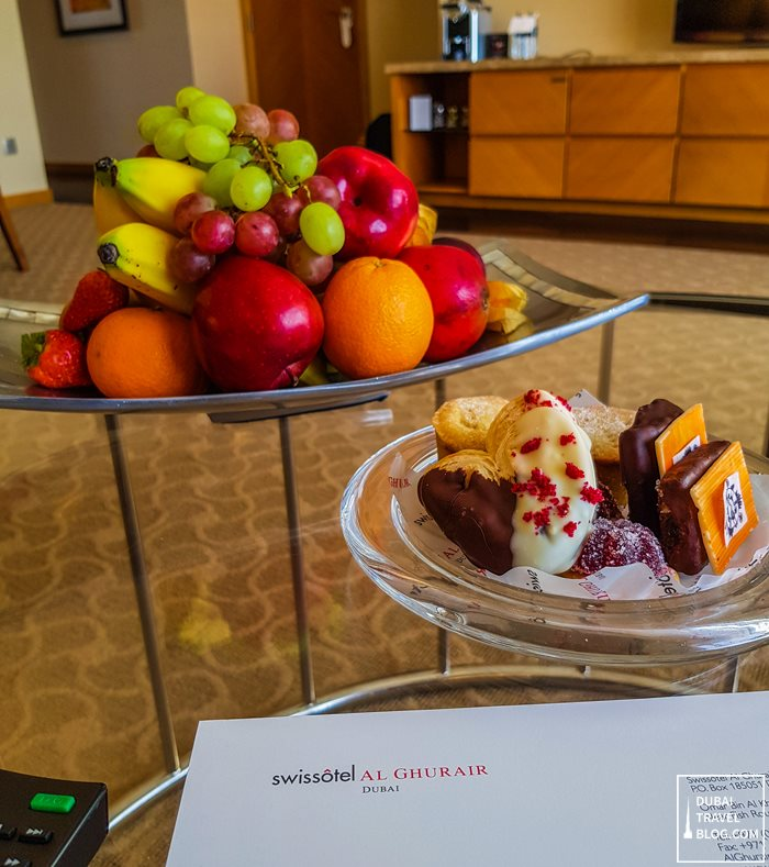 swissotel al ghurair welcome treat