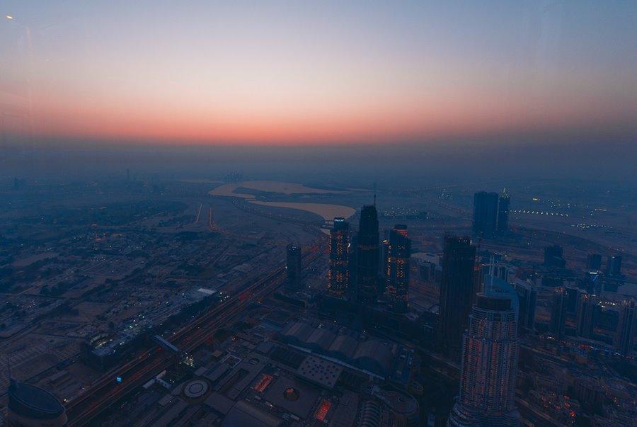 Sunrise views At the Top Burj Khalifa