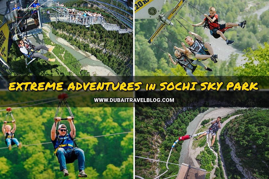 extreme adventures in sochi sky park russia