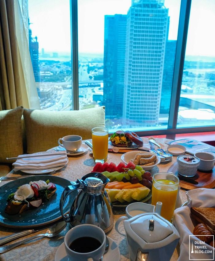 breakfast at the h dubai room service