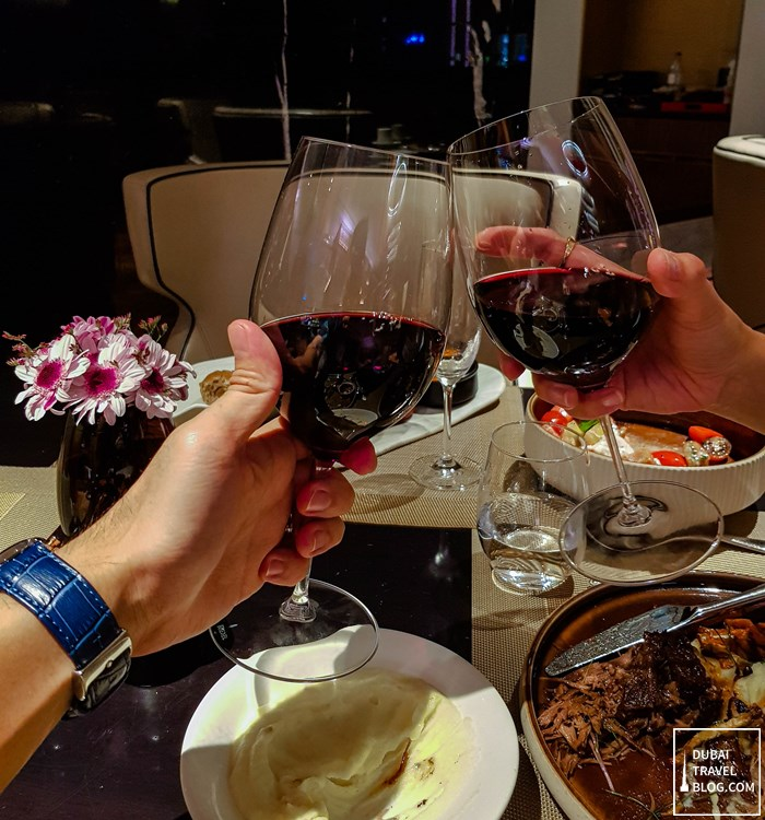 red wine eat and meat