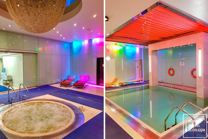 sauna jacuzzi pool dubai airport