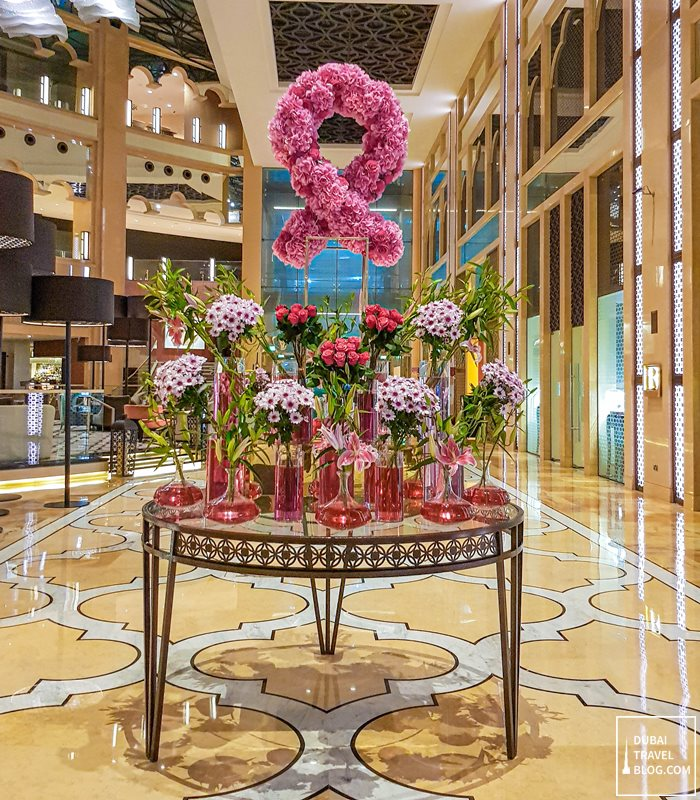 the h hotel lobby flower arrangement