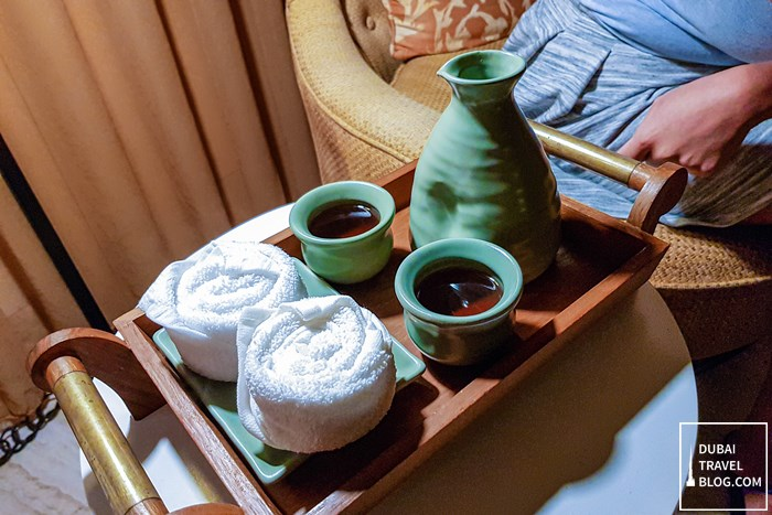 welcome tea mandara spa massage dubai