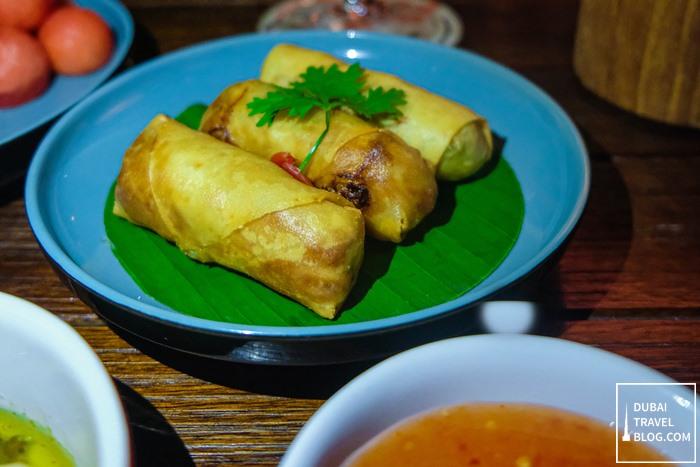 phad thai spring rolls