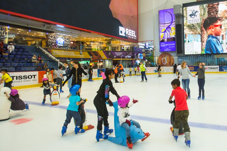 Dubai Ice Rink Fun