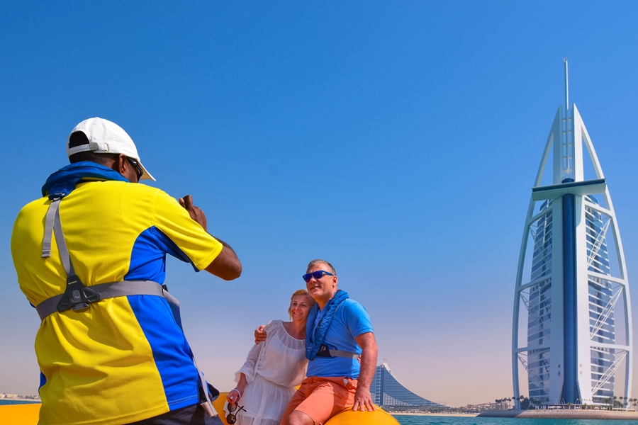 The Yellow Boats Burj Al Arab Photo