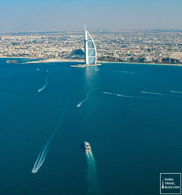 dubai aerial view from gyrocopter