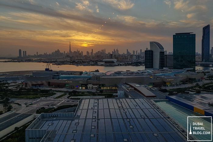 sunset dubai skyline dubai festival city