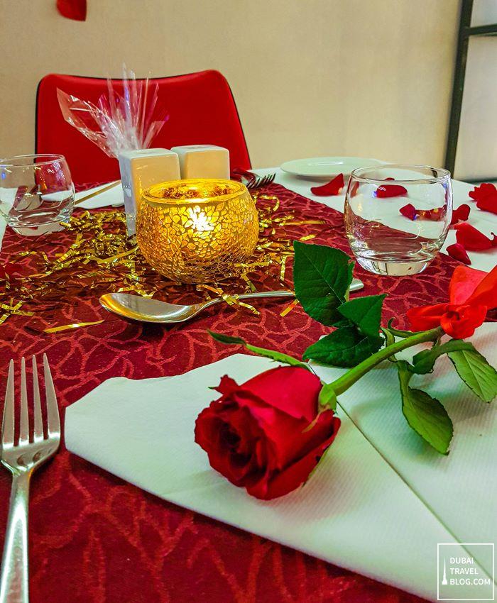 romantic dinner valentines flavours dubai