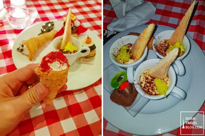 desserts at pergolas dubai