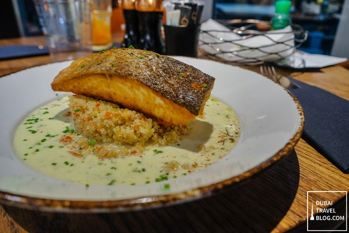 grilled salmon q6 bistro dubai
