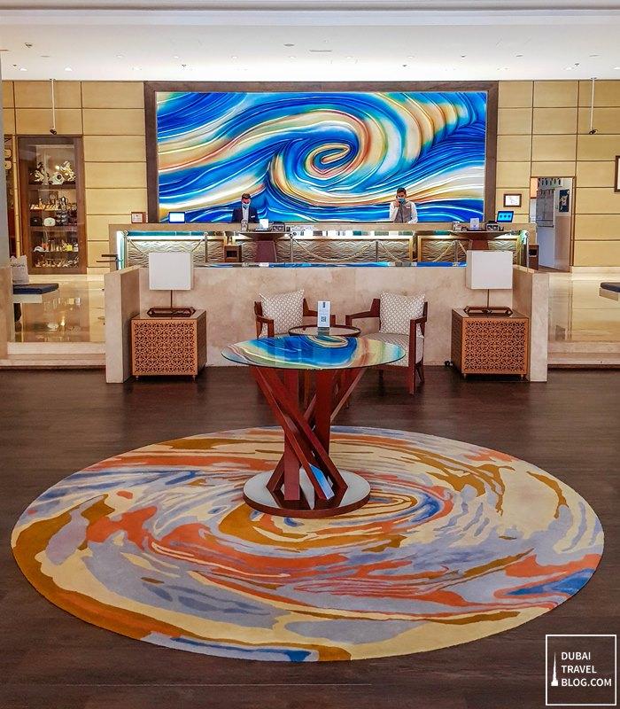 hotel in amwaj rotana lobby