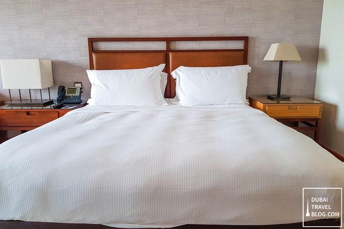 king size bed at amwaj rotana