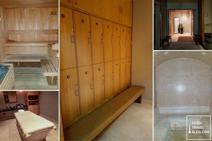 male wet area facility amwaj rotana steam sauna