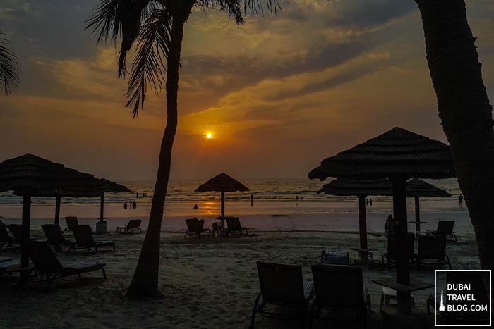 beautiful sunset uae ajman